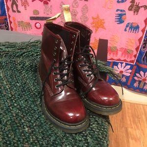 Cherry Red Vegan Doc Martens Size 8